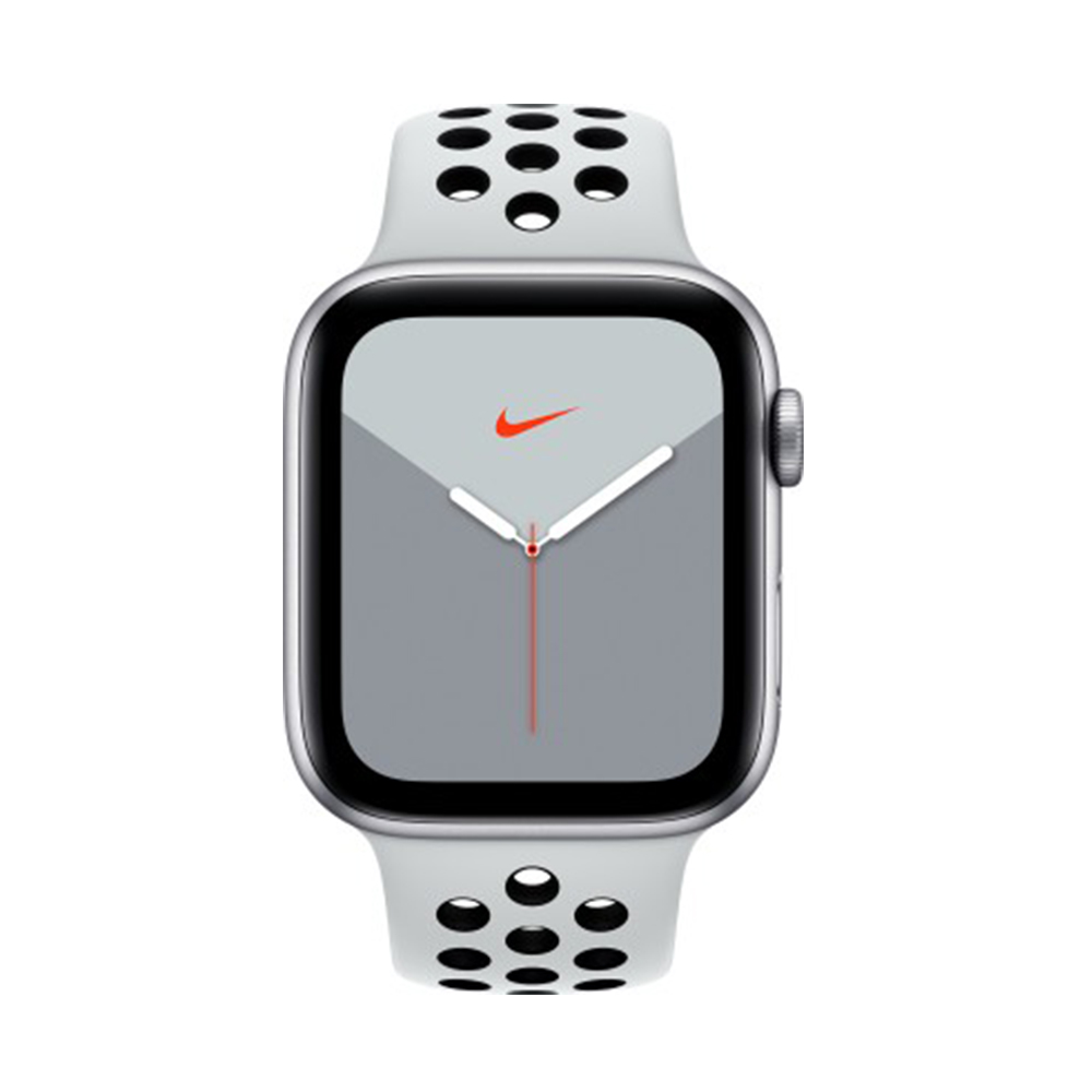 aluminio Día del Niño Experto  Get Apple Watch Nike Series 5 GPS + Cellular, 44mm Silver Aluminium Case  with Pure Platinum/Black Nike Sport Band | BuyShuy